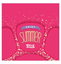 Abstract summer card design vector image vector image