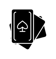 cards game icon black sign vector image