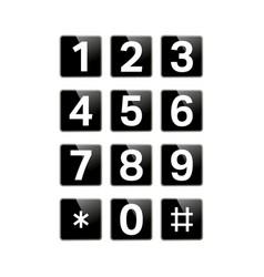 digital keypad isolated vector image