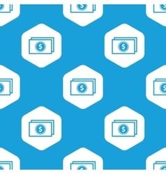 Dollar bill hexagon pattern vector image