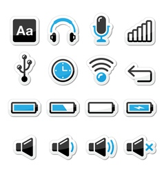Electronic device Computer software icons set vector image vector image