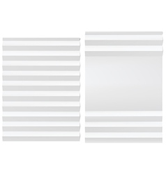 Folded blank white paper vector image vector image