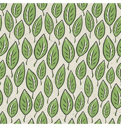 green leaf seamless pattern vector image
