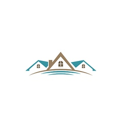 house roof construction business logo 2 vector image