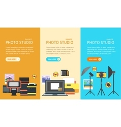 Professional Photo Studio Banner vector image vector image