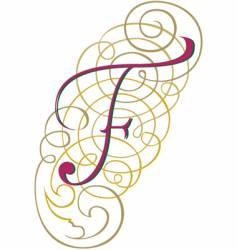 script letter f vector image vector image