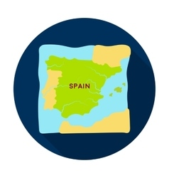 Territory of Spain icon in flat style isolated on vector image