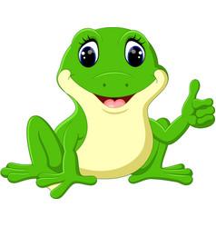 cartoon funny frog vector image