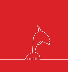 dolphin red vector image