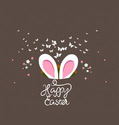happy easter bunny ears vector image vector image