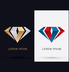 abstract jewelry diamond vector image