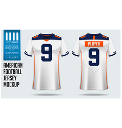 American football jersey mockup template design vector