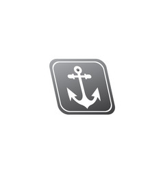 Anchor for boat and yacht logo design in the vector