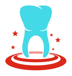 anterior tooth icon flat style vector image
