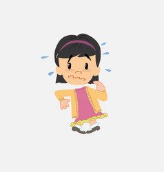 Asian girl scared vector