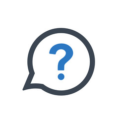 Asking a question icon vector
