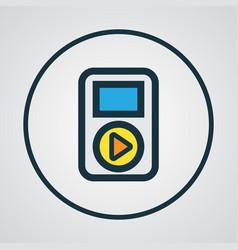 Audio colorful outline symbol premium quality vector