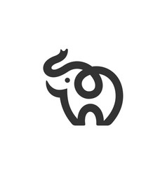 Baby little elephant cub logo icon vector