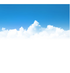 background with realistic clouds over blue sky vector image