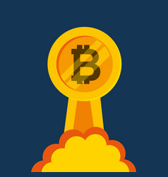 bitcoins investment business icons vector image