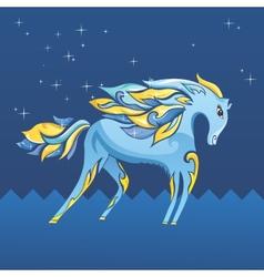 Blue Night Horse vector image