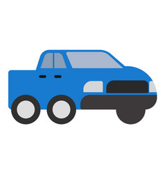 blue pickup flat vector image