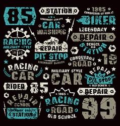 car repair typographic elements vector image