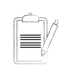 clipboard checklist with write pen work element vector image