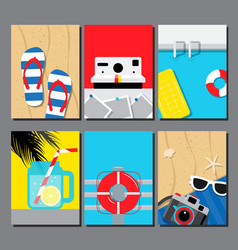 collection summer seasand water poster vector image