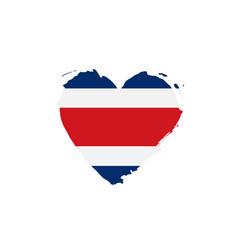 costa rica flag vector image