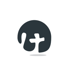 Cross logo design vector
