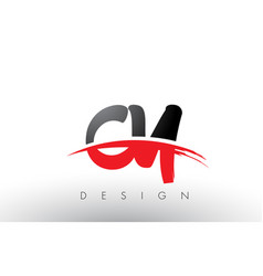 cy c y brush logo letters with red and black vector image
