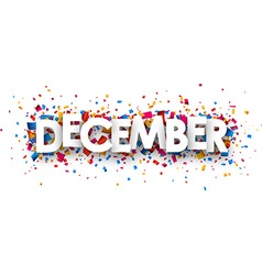 December sign vector image