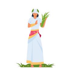 demeter greek goddess ancient mythological vector image