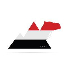 Egypt icon like flag vector