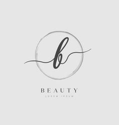 elegant initial letter type b logo vector image