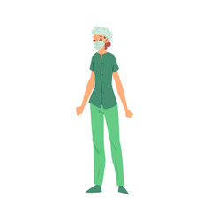 female doctor or nurse medical worker character vector image