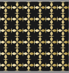 fine gold square patterns on black background vector image