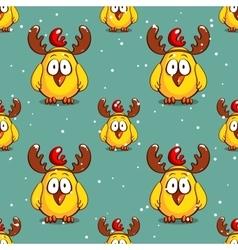 Funny Chicken Winter Pattern vector