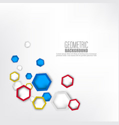 geometric colorful hexagonal shapes background vector image