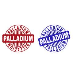 Grunge palladium textured round stamps vector
