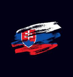 grunge textured slovak flag vector image