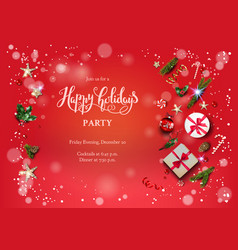 happy holidays red vector image