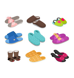 home footwear collection vector image