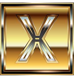 Ingot Font Letter X vector