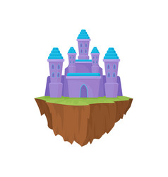 island castle on white background purple magic vector image