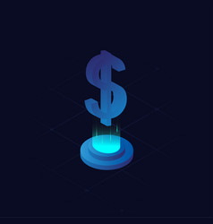 Isometric icon with blue color vector