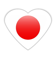 Japan flag button vector image