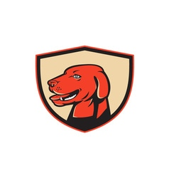Labrador Golden Retriever Dog Head Shield Retro vector image