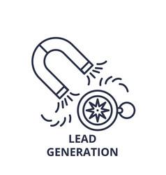 lead generation line icon concept lead generation vector image